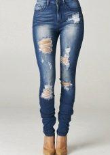 обтягивающие джинсы фото