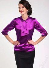 Оригинальным будет решение с короткой трикотажной юбкой и шифоновой блузой,  такой образ сможет украсить только ваша сияющая улыбка и отличное  настроение. a8fa780aa29