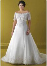 платья свадебные на полных девушек фото