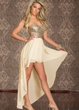 4462f5d9d88 Великолепные платья в бежевых тонах с блестками - шикарный вариант