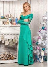 cca0d7fbd5d Длинное бирюзовое платье в пол идеально подойдет для любого вечернего  образа. Но