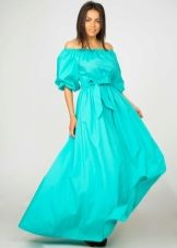 5c26dfcdd8e Бирюзовое платье (167 фото)  в пол