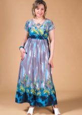 22b0dbc13fef Летние платья и сарафаны больших размеров для полных женщин (96 фото ...