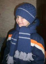 вязаные шапки для мальчиков 2019 2020 60 фото зимние детские для