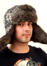 меховая шапка-ушанка
