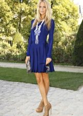 ebf8f830e99 Синие платье синие туфли (64 фото)  какие подойдут туфли и колготки ...