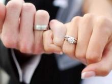 Обручальное кольцо на руке фото