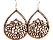Бижутерия из дерева (40 фото): дизайн деревянных украшений, заготовки из тропического дерева