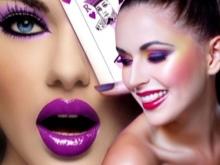 Макияж под фиолетовое платье (19 фото): вечерний make-up на выпускной для брюнетки под сиреневый наряд