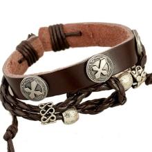 мужские кожаные браслеты 97 фото украшения на руку из кожи и