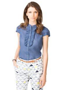 6ed1b8e72ba0 Блузки из хлопка (65 фото): с чем носить, модные фасоны хлопковых ...