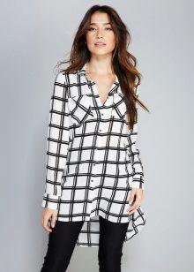 99046f391ac3 Женская рубашка-туника (41 фото): с чем и как носить, для полных ...