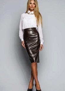 980331674e9 C чем носить кожаную юбку (80 фото) 2019  черную