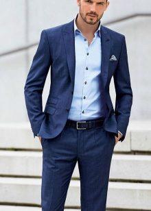 мужские синие рубашки фото