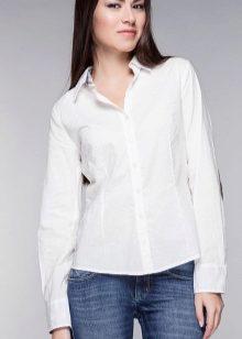 9a789c3edc4 С чем носить белую рубашку женскую (59 фото)  какой галстук подойдет