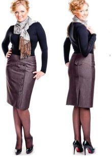 Прямые юбки фасоны фото для полных