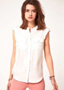 68073c7e3ae3 Блузка без рукавов: с чем носить, виды блузок, выбираем красивый ...