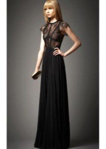 6d27fe0d440 Черное вечернее платье (66 фото)  черно-белое