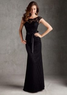 Вечерние черные платья фасоны