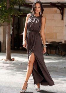 Красивые коричневые платья фото