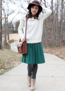 Лук юбка и свитера