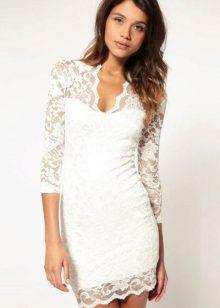 57237ea0a90 Коктейльное белое платье (65 фото)
