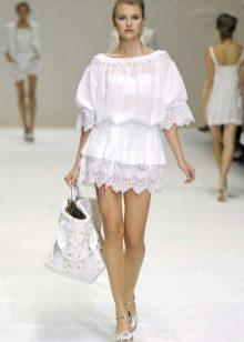 Легкое белое платье на лето