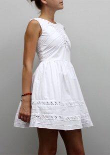438f37d2ff0 Белое летнее платье 2019 (84 фото)  из хлопка