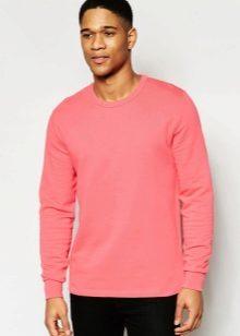 653a47a0f В мужскую моду вошёл светлый розовый цвет. Преимущественно он используется в  однотонных моделях джемперов и толстовок. В спортивных моделях его  дополняют ...