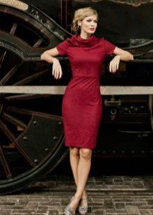 Платье с воротником стойка декольте
