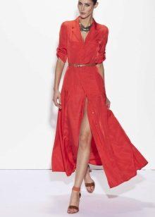58299b6278a Платья-рубашки длиной в пол смотрятся очень элегантно. Приталенные модели