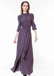 Фото платья рубашки из шелка