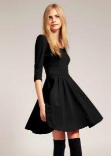 84eeafa7bc8 Платье с юбкой-солнце (64 фото)   черное