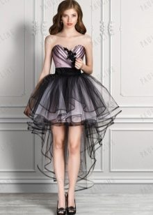 919c557d1bb Платье сзади длинное спереди короткое (91 фото)  как называется ...