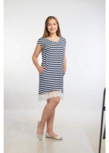 14fe62488ca3 Для вечерних образов предпочитают выбирать обтягивающие платья в пол в  черно-белой цветовой гамме. Торжественные тельняшки частенько имеют  элегантных вырез ...