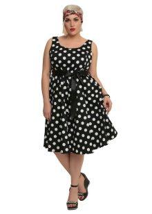 8b61e766c4a Платье в горошек для полных женщин (58 фото)  фасоны