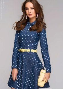 b8b1ae9fbb23 Платье в горошек (99 фото)  белое, красное, коричневное, голубое