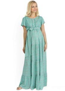 Платье в пол, как и длинные модели, хорошо смотрятся на беременных дамах.  Расклешенные, широкие подолы выравнивают фигуру, позволяя избавиться от  основного ... 0ffd9556ae6