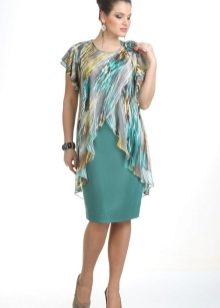 Платья с шифоновой накидкой фото