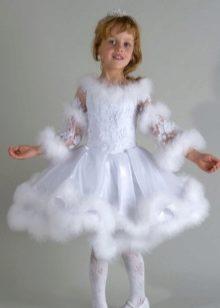 Чем украсить платье снежинки на новогодний утренник фото