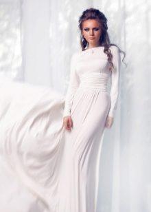 фото длинное белое платье
