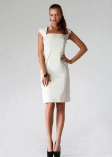 8c4fe3e738a Белое платье-футляр (91 фото)  с чем носить