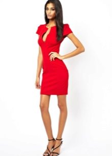 54c9d51a447 Красное платье-футляр (68 фото)  с чем носить