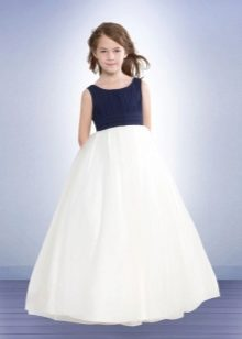 81a178d3c9a Вечерние платья для девочек (80 фото)  со шлейфом
