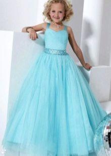 Шикарные платья голубого розового цвета