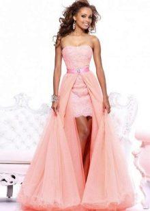 602a3ca9dca Платье со съемной юбкой подходит для торжественного мероприятия. Во время  официальной части вы будете в длинном платье