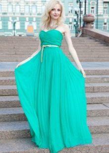 фото платья бирюзового цвета