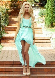 Цвет бирюзовый фото платье