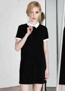 8f023342435 Черное платье с белым воротником – это элегантная классика