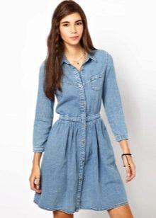 76c769b05f8 Поэтому любое джинсовое платье будет отличать строгий четкий силуэт